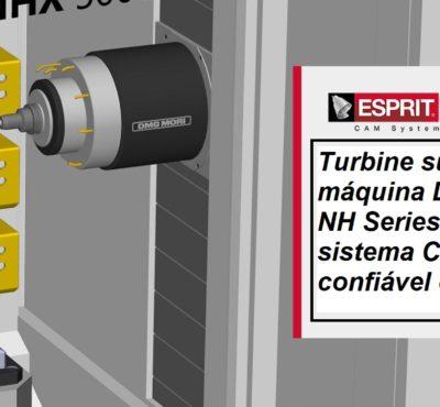 Turbine sua máquina DMG MORI NH Series com o novo ESPRIT CAM