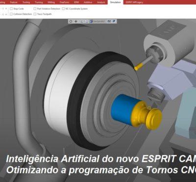 Novo ESPRIT CAM – Otimizando a Programação de Tornos CNC